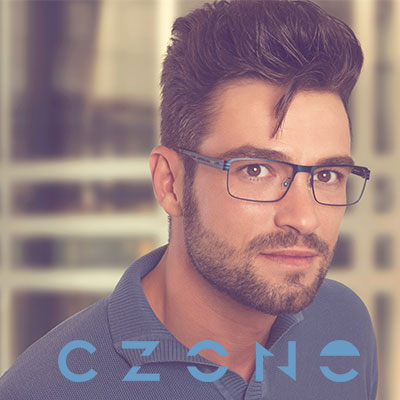 C-Zone homepage tile with man.